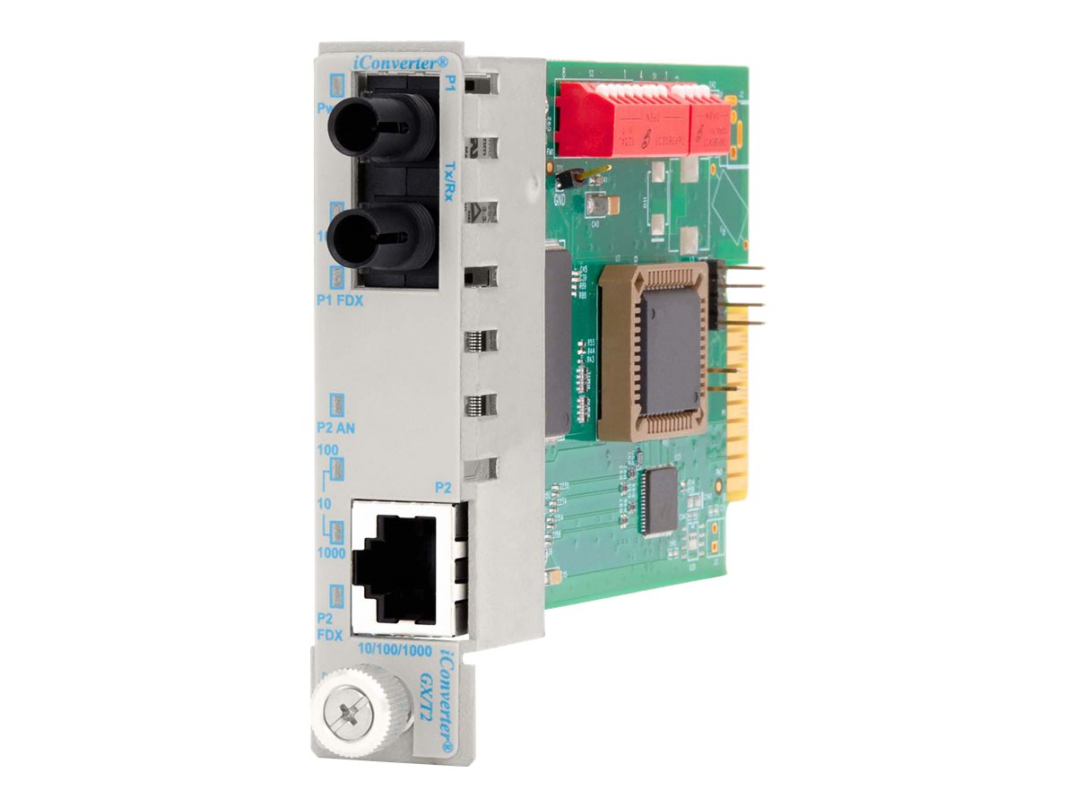 Omnitron iConverter 10 100 1000 Gigabit Ethernet Fiber ST MM 550M MODULE, 8520N-0, 18125135, Network Transceivers