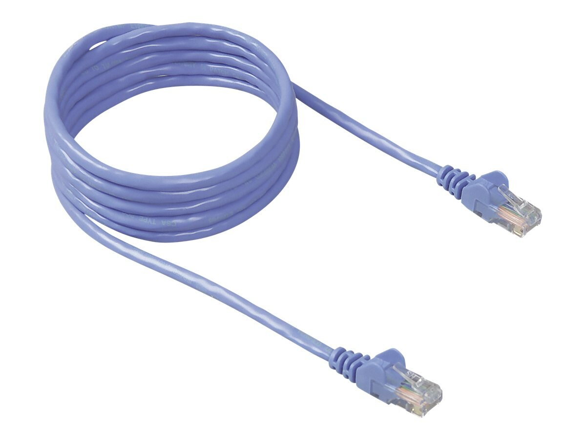 Belkin Cat5e Snagless Patch Cable, Blue, 30ft, A3L791-30-BLU-S