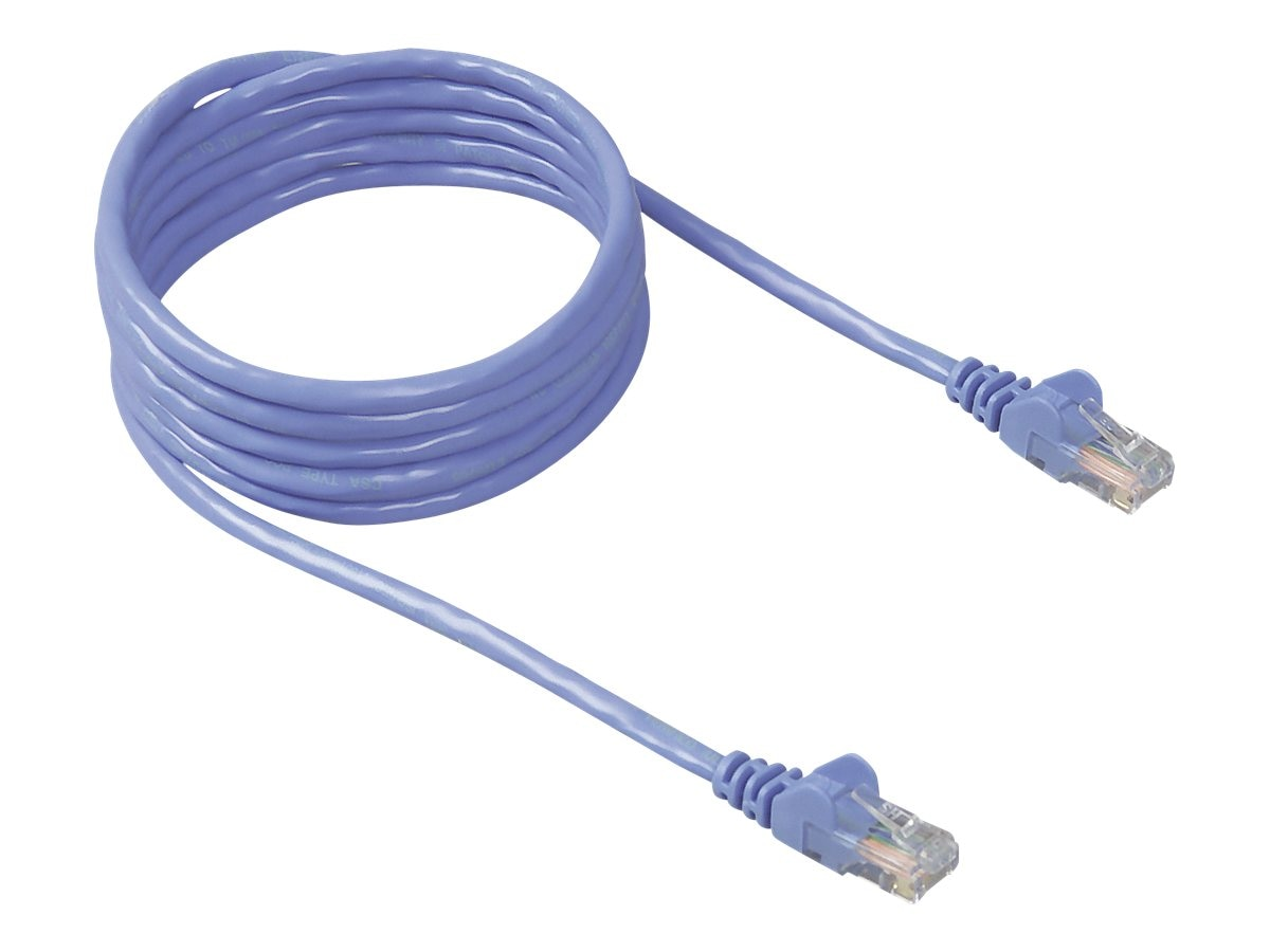 Belkin Cat5e Snagless Patch Cable, Blue, 30ft, A3L791-30-BLU-S, 5654679, Cables