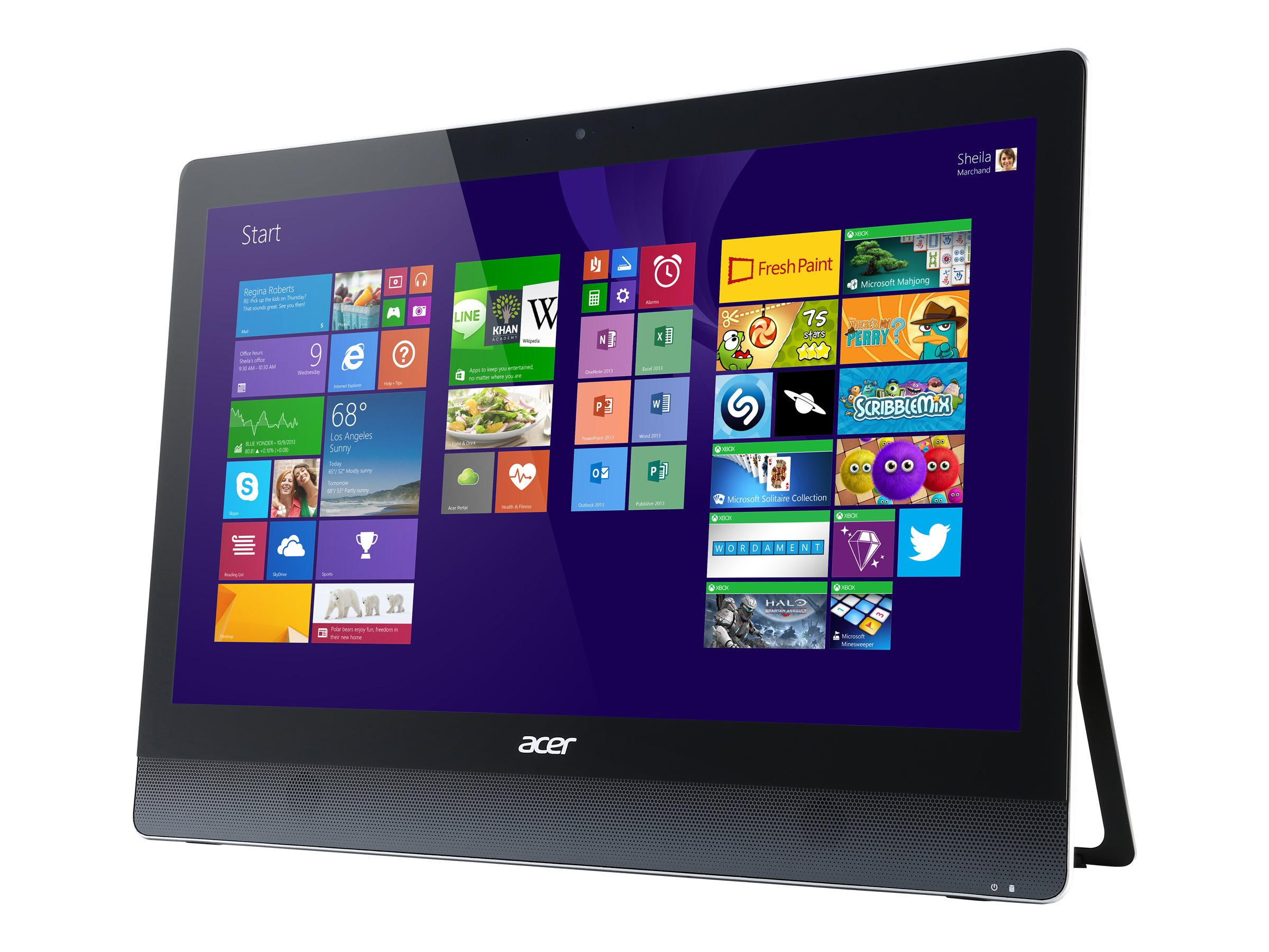 Acer Aspire U5-620 AIO Core i5-4210M 2.6GHz 8GB 1TB HD4600 DVD SM GbE ac BT WC 23 FHD MT W10H64