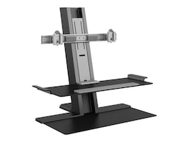 Humanscale QuickStand with Dual Monitor Support, Standing Base, Black, QSBC24FNN, 32464037, Stands & Mounts - AV