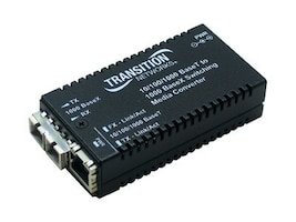 Transition 10 100 1000BaseTX to 1000BaseLX MM SC 10km Media Converter, M/GE-PSW-SX-01-NA, 8738122, Network Transceivers