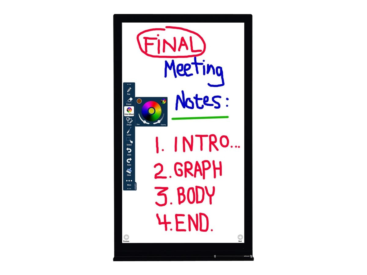 InFocus 40 JTouch DigiEasel Full HD LED-LCD Interactive Whiteboard Display, Black