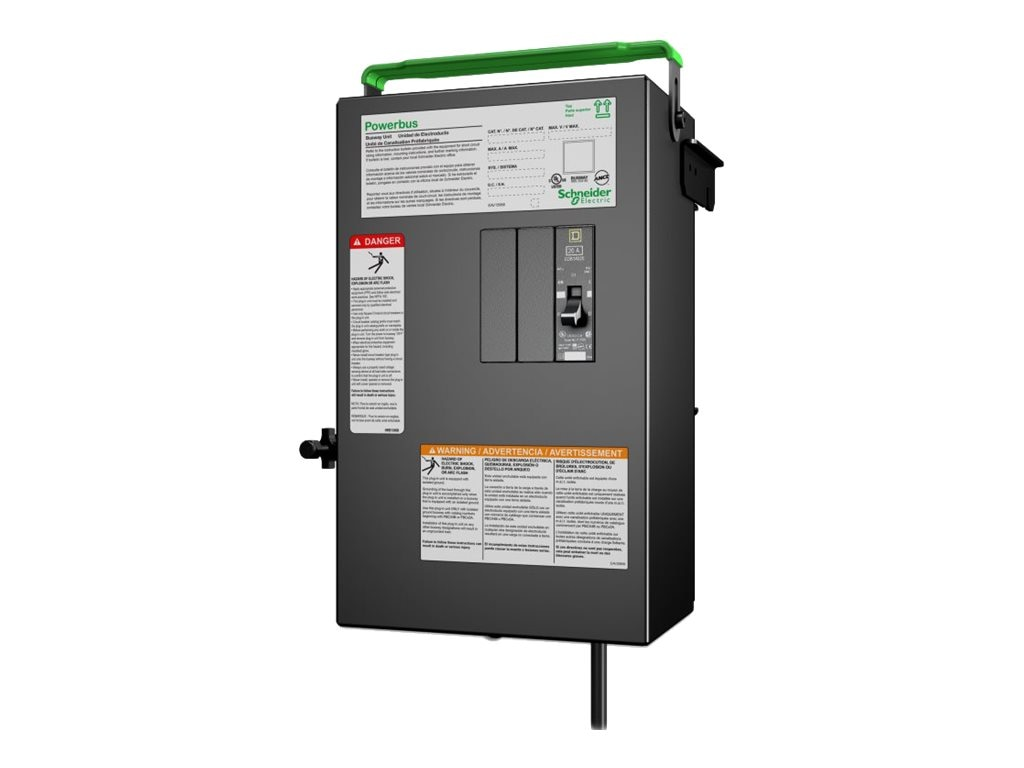 APC PB Busway Tap Off Unit, 1x1 pole 3 Wire, Phase C, 1 Drop cord, IEC 309 20A, 240V, PBP4A11IEC20C, 17672639, Premise Wiring Equipment