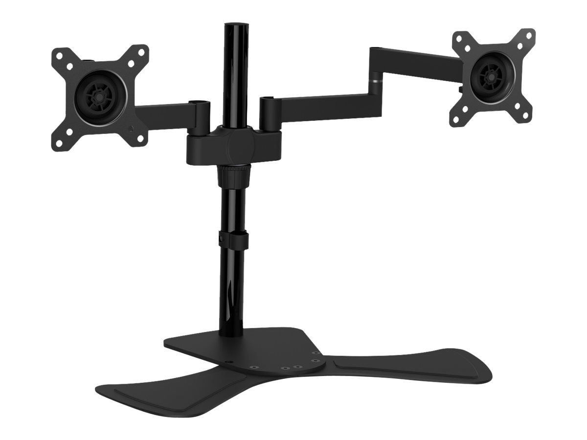 V7 Dual Display Swivel Desk Stand Mount for Displays up to 27, DS1FSD-1N