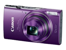 Canon PowerShot ELPH 360 HS Digital Camera, Purple, 1081C001, 33707248, Cameras - Digital