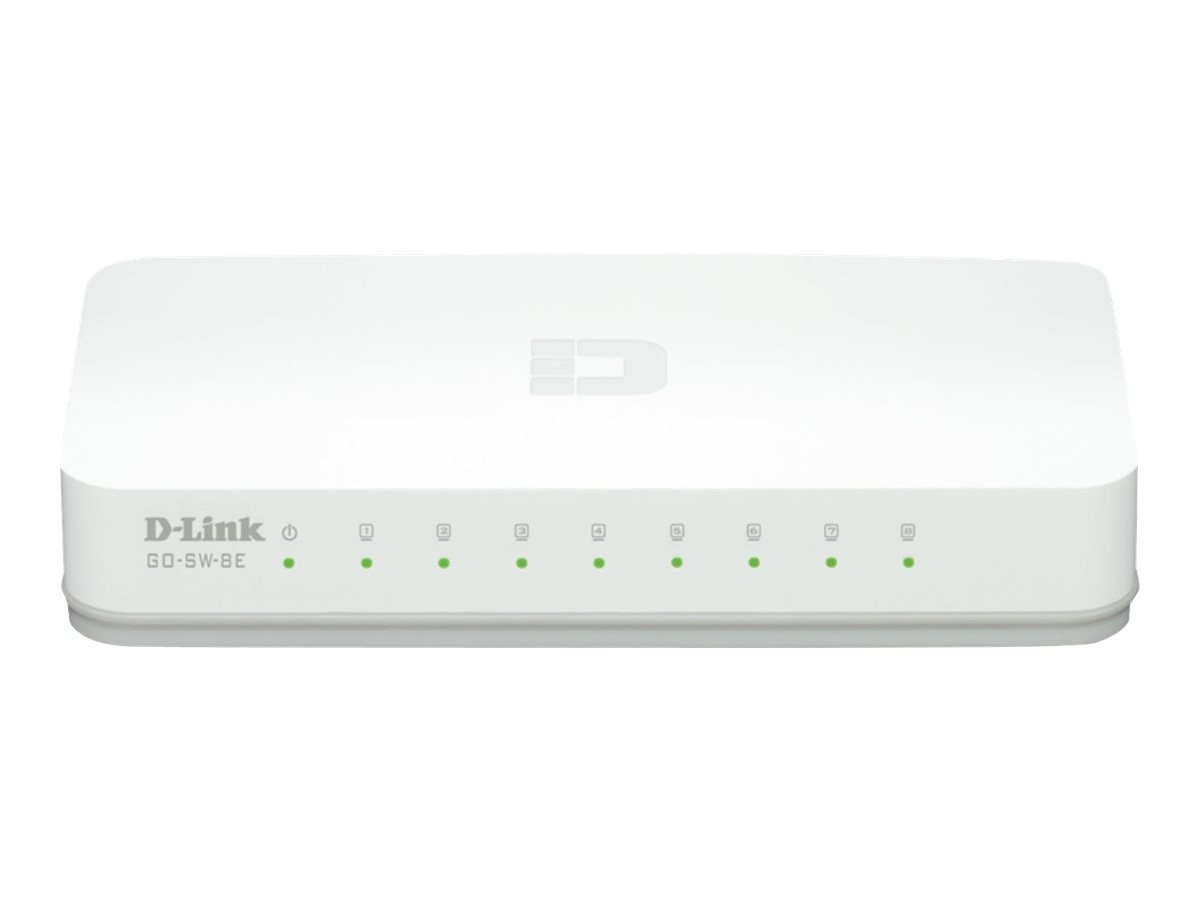 D-Link 8-PORT 10 100BASE-T, GO-SW-8E, 15915449, Network Switches