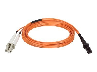 Tripp Lite Fiber Optic Cable, MTRJ-LC, 50 125, Duplex Multimode, Orange, 3m, N514-03M