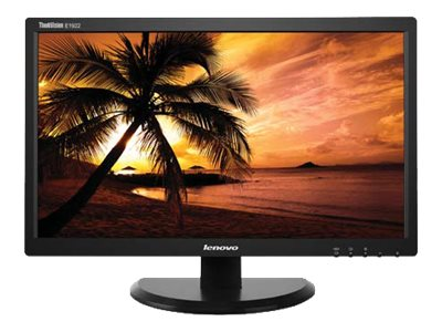Lenovo 18.5 E1922 LED-LCD Monitor, Black, 60B8AAR6US, 16900450, Monitors - LED-LCD