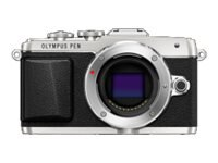Olympus PEN E-PL7 Mirrorless Micro Four Thirds Digital Camera, Silver (Body Only), V205070SU000