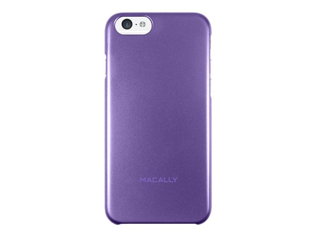 Macally Snap-On Plastic Polycarbonate Case for iPhone 6, Purple, SNAPP6MPU, 31202027, Carrying Cases - Phones/PDAs