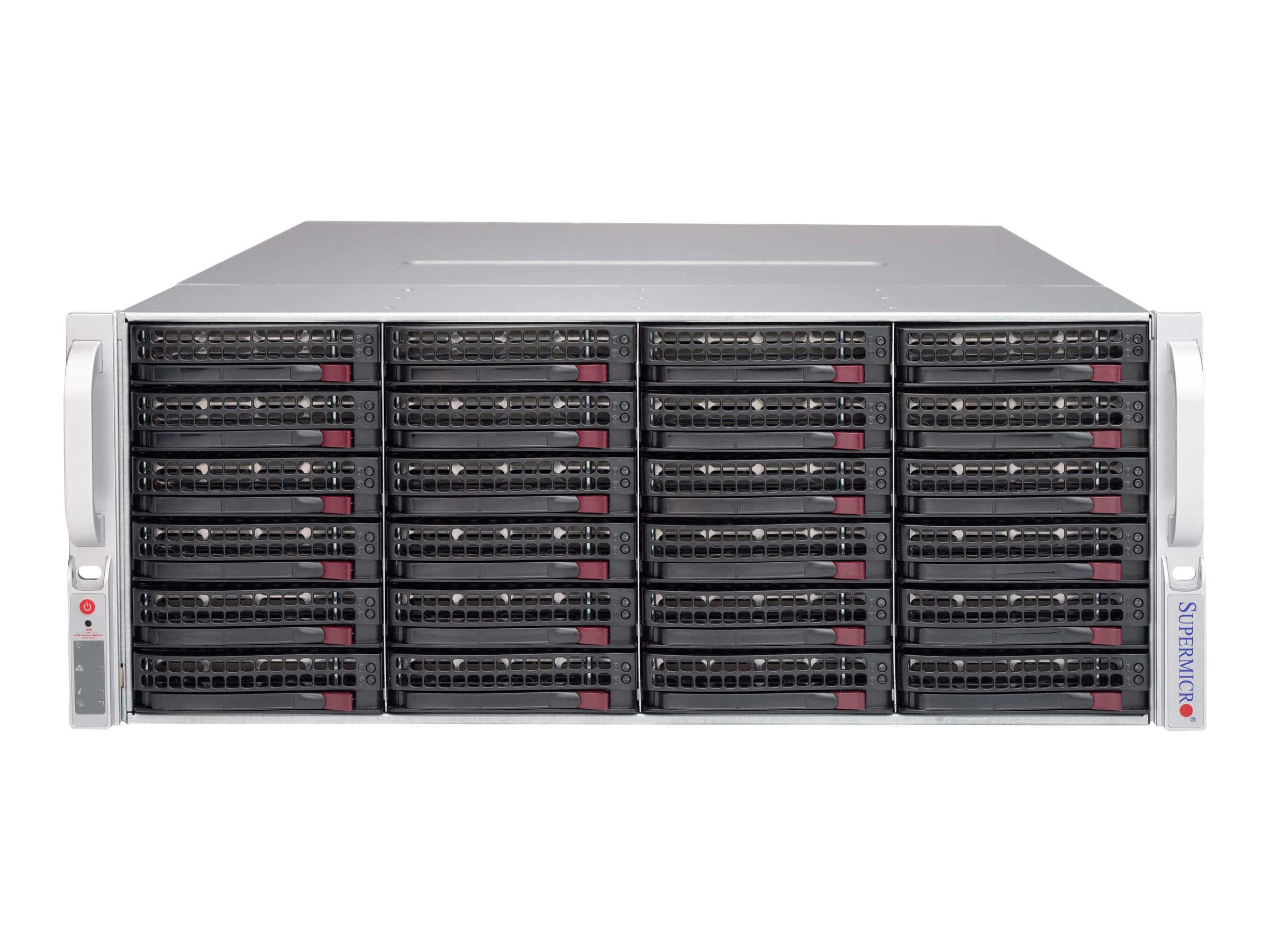 Supermicro Chassis, SuperChassis 847E1C 4U RM 44x3.5 HS Bays JBOD 2x1280W, Black