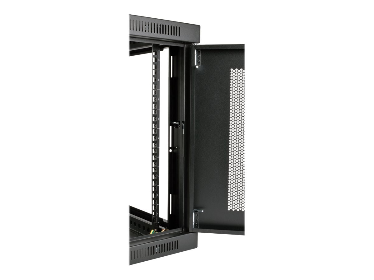 Tripp Lite SmartRack 9U Low-Profile Switch-Depth-Plus Wall-Mount Rack Enclosure Cabinet, SRW9UDP