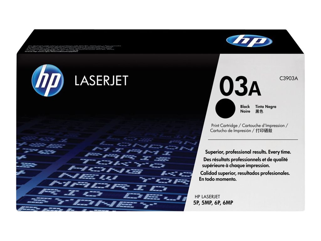 HP 03A (C3903A) Black Original LaserJet Toner Cartridge, C3903A, 21203, Toner and Imaging Components