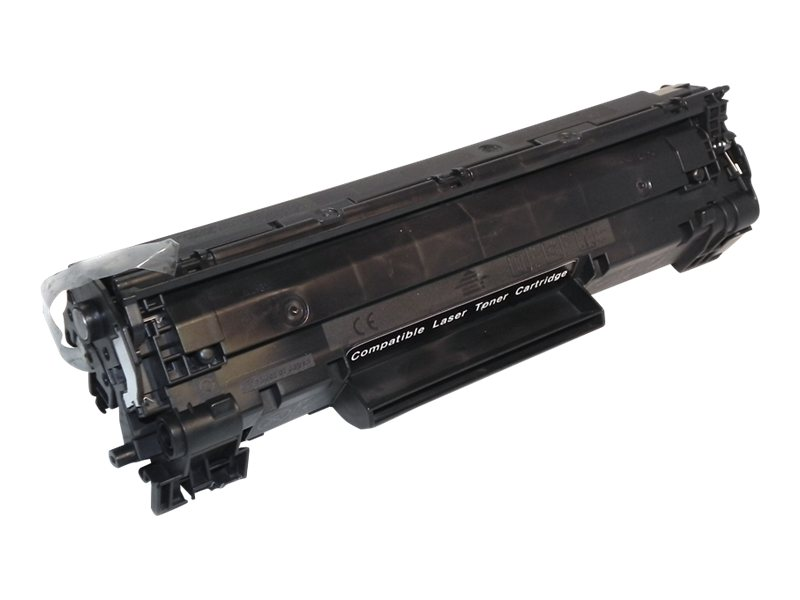 Ereplacements CB436A Black Toner Cartridge for HP LaserJet P1505 Series Printers, CB436A-ER, 12933668, Toner and Imaging Components