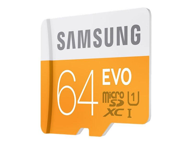 Samsung 64GB EVO SDXC Flash Memory Card with SD Card, Class 10