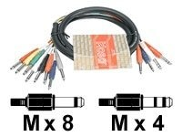 Hosa Send Return Cable, Snake 4-Channel Stereo Mono, 3m, STP-803, 14037710, Cables
