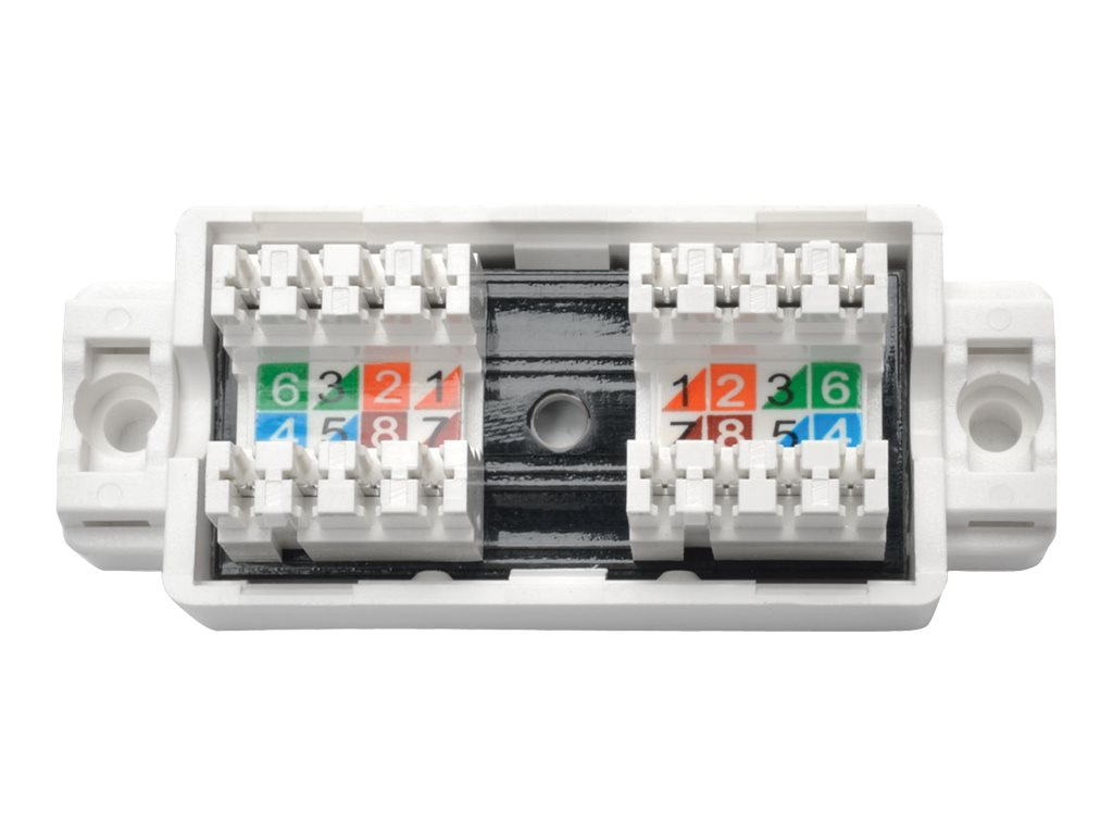 Tripp Lite Cat5e 6 Unshielded Surface-Mount Junction Box, 110 IDC, N237-001