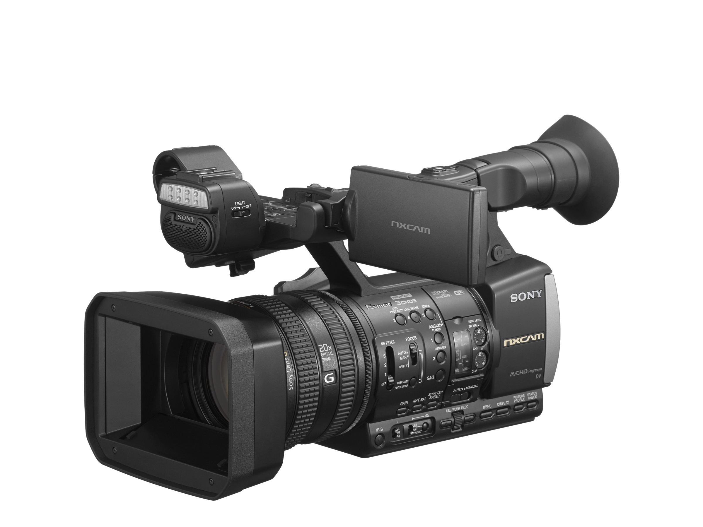 Sony NXCAM 1080p Professional Handheld Camcorder, Black
