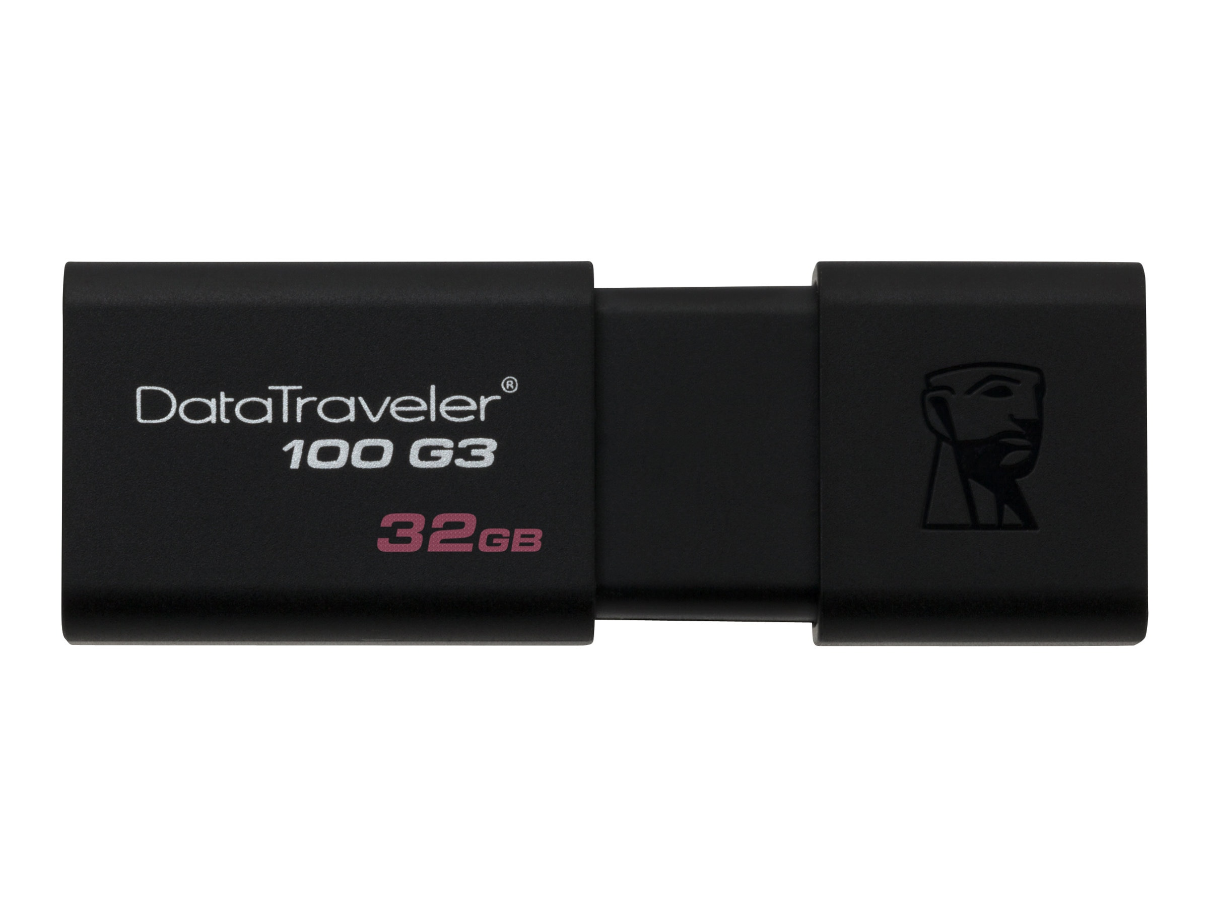 Kingston 32GB DataTraveler 100 G3 USB 3.0 Flash Drive, DT100G3/32GB, 15562815, Flash Drives