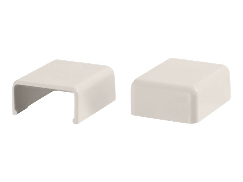 C2G Wiremold Uniduct 2700 Blank End Fitting, Fog White, 2-Pack, 16093