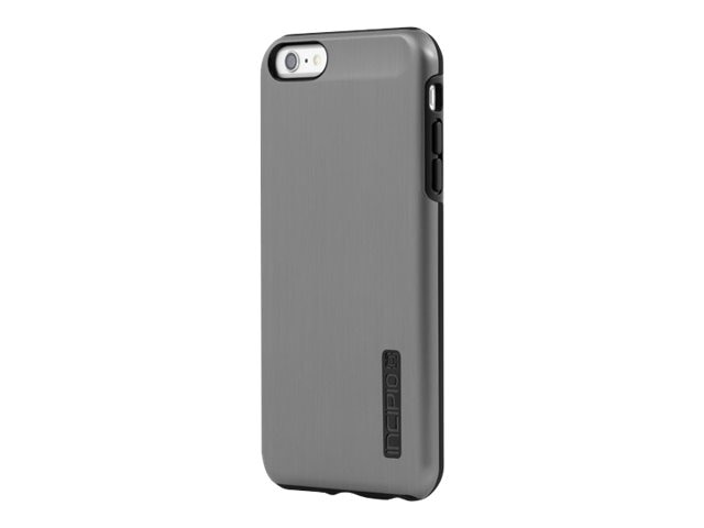 Incipio DualPro Shine Dual Layer Protection w  Brushed Aluminum Finish for iPhone 6 6S Plus, Gunmetal Black