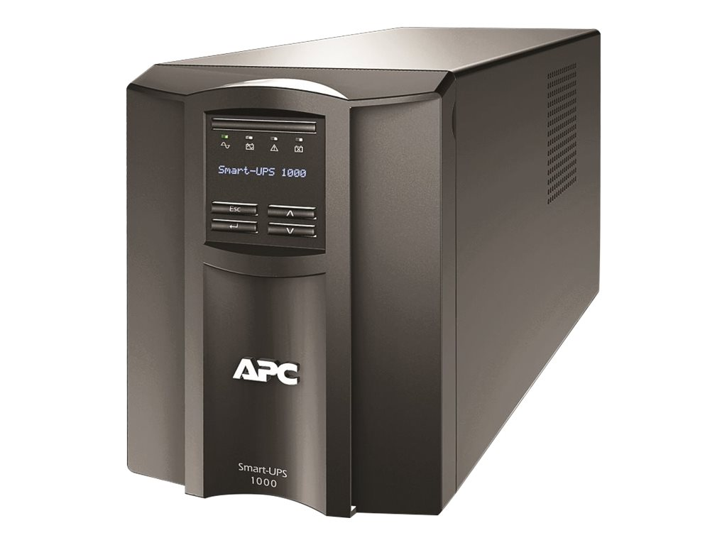APC Smart-UPS 1000VA 670W LCD Tower UPS (8) Outlets USB Serial, SMT1000, 10334477, Battery Backup/UPS
