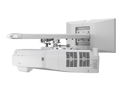 Open Box NEC UM352W WXGA LCD Projector with Built-in Interactivity, Whiteboarding and Custom Wall Mount