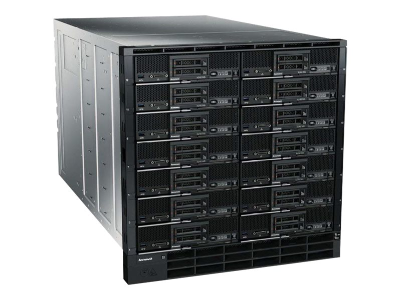 Lenovo Chassis, Flex System Carrier-Grade 11U RM 1xCMM2 4xIO Bays 14xNode Bays 2x2500W DC, 7385DCU, 21647410, Cases - Systems/Servers