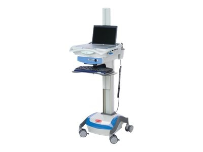 Rubbermaid AC Computer Cart, 55 AMP, 16in Height Adjustment, Notebook Only Configuration, 9M38-01-L55, 9408969, Computer Carts