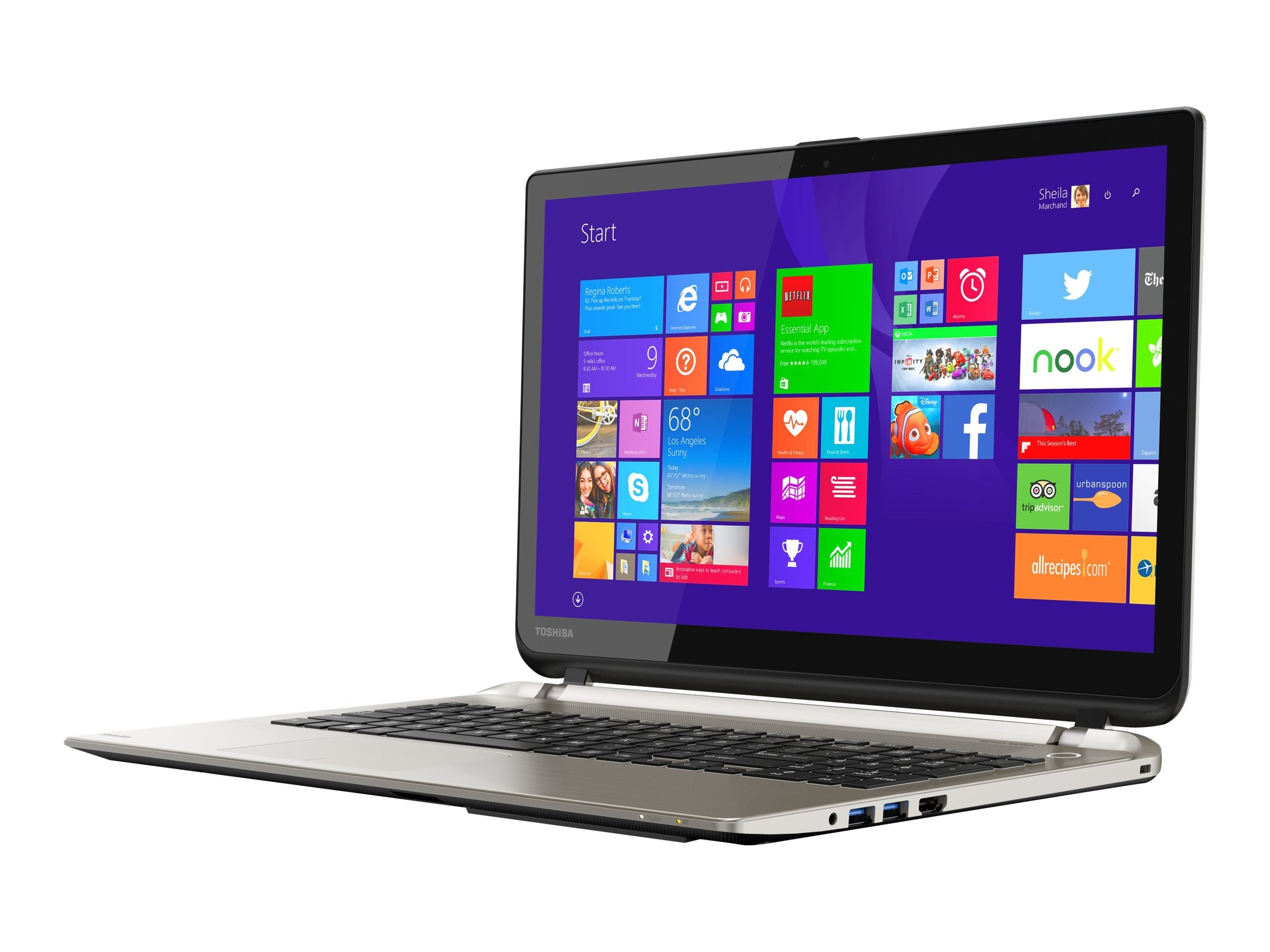 Toshiba Satellite S55T-C5250-4K Core i7-4720HQ 2.6GHz 12GB 1TB DVD SM ac GNIC BT WC 4C 15.6 4K MT W10H, PSPTLU-00C006, 22521801, Notebooks