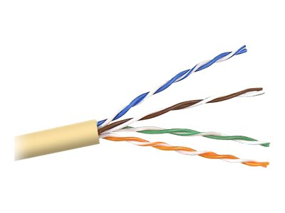 Belkin Cat5e Bulk Solid Yellow PVC Cable, 1000ft