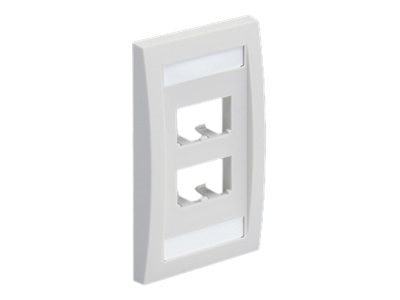 Panduit 4-Port Flush Mount Unloaded Single Gang Mini-Com White ROHS