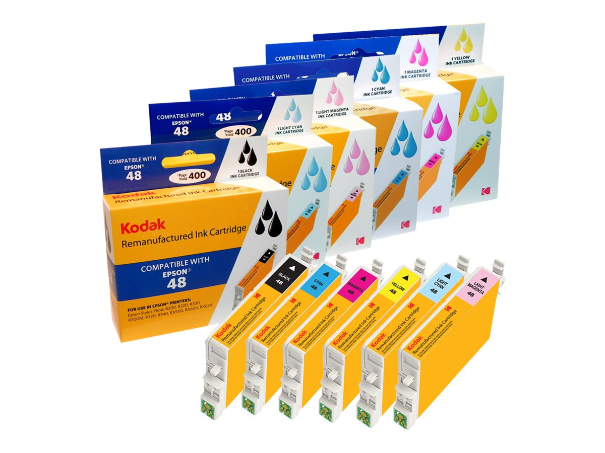Kodak T048920 Ink Cartridge Combo Pack for Epson Stylus R, T048920-KD