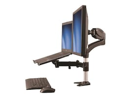 StarTech.com Single Monitor Arm and Laptop Stand with One-Touch Height Adjustment, ARMUNONB, 32332923, Stands & Mounts - AV