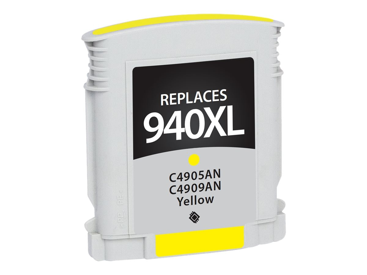 V7 C4909AN Yellow Ink Cartridge for HP Officejet, V7WC940XLY
