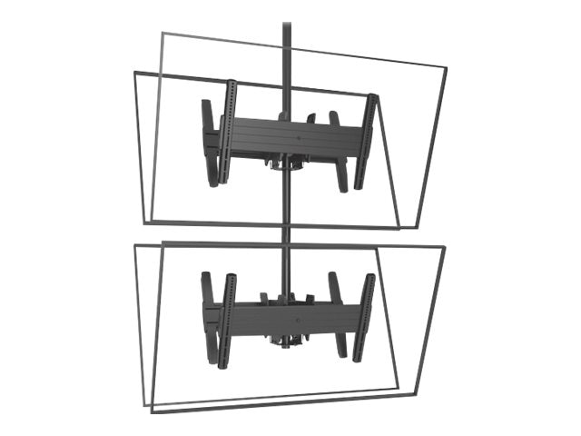 Chief Manufacturing FUSION Large Back-to-Back Stacked Ceiling Mounts for 32-60 Displays, Black, LCB1X2U