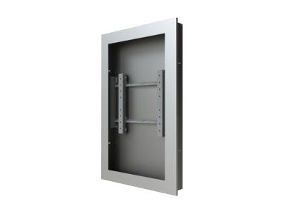 Peerless In-Wall Kiosk Enclosure, Silver, for 46 Displays up to 2.25 Thick