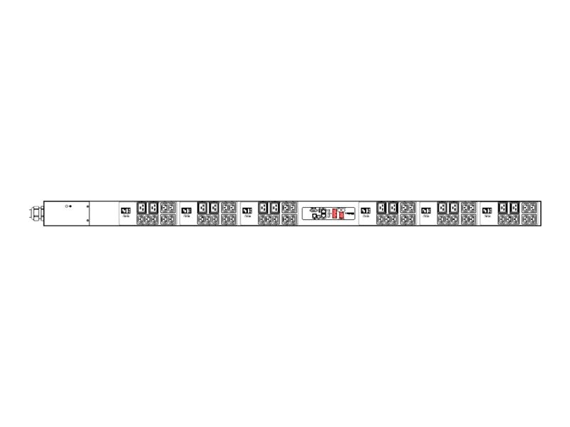Raritan PDU 14.4kVA 208V 3-ph 40A 0U CS8365C Input (42) C13 (12) C19 Outlets, PX2-4953V-V2A2, 15231549, Power Distribution Units