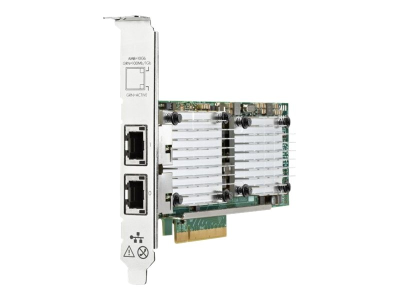 HPE Ethernet 10Gb 2-port 530T Adapter, 656596-B21, 15409503, Network Adapters & NICs
