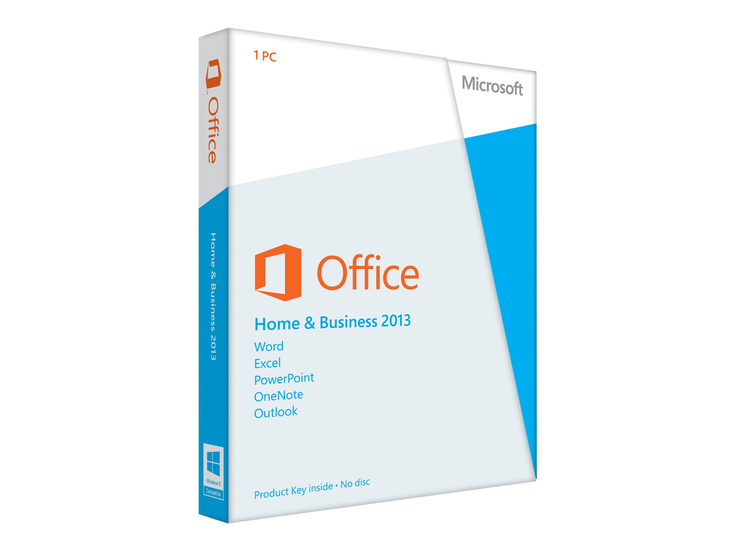 Microsoft Office Home and Business 2013 32-bit 64-bit English Medialess