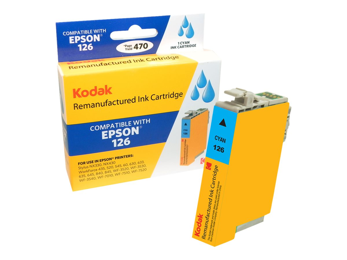 Kodak T126220 Cyan Ink Cartridge for Epson NX330 430, T126220-KD, 31286865, Ink Cartridges & Ink Refill Kits