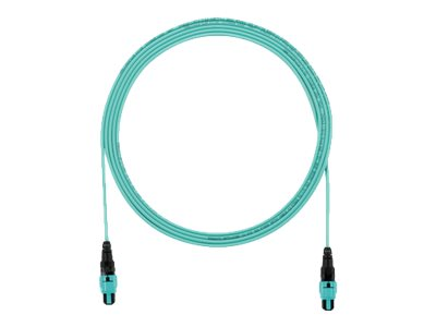 Panduit PanMPO to PanMPO F F OM3 Multimode Plenum Cable, Aqua, 11m