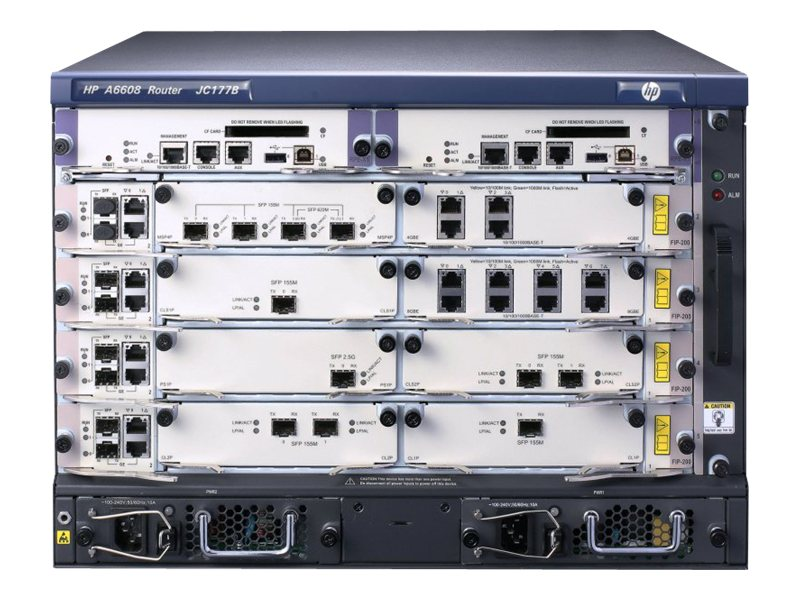 HPE 6608 Router Chassis, JC177B, 15042895, Network Routers