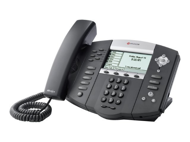 Polycom SoundPoint IP 650 PoE 6-Line Phone - No AC P S, 2200-12651-025