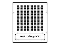 Middle Atlantic Vented Rack Roof (for WRK, MRK, VRK) 19 Black, MW-VT, 115681, Rack Mount Accessories
