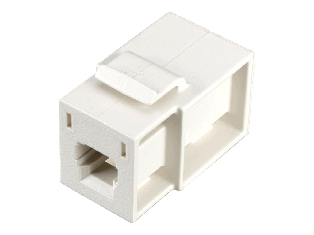 Black Box GigaStation MT-RJ F F Flush Adapter Snap Fitting, Office White