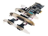 Quatech PCIe Board, 4 Port Serial 1 Port Parallel, QSSP-PCIE-100, 7746788, Network Adapters & NICs