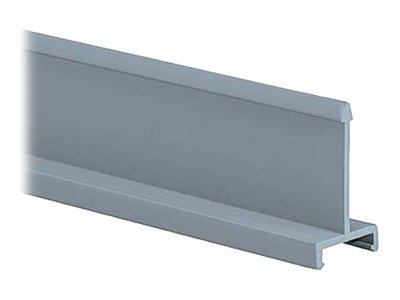 Panduit Panduct Solid Divider Wall, 4.00 Nominal Duct Height, 6ft Length, PVC, Light Gray, D4H6
