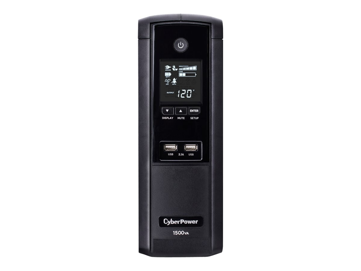 CyberPower 1500VA 900W Intelligent LCD Line-Interactive AVR Mini-Tower UPS, Instant Rebate - Save $15, BRG1500AVRLCD